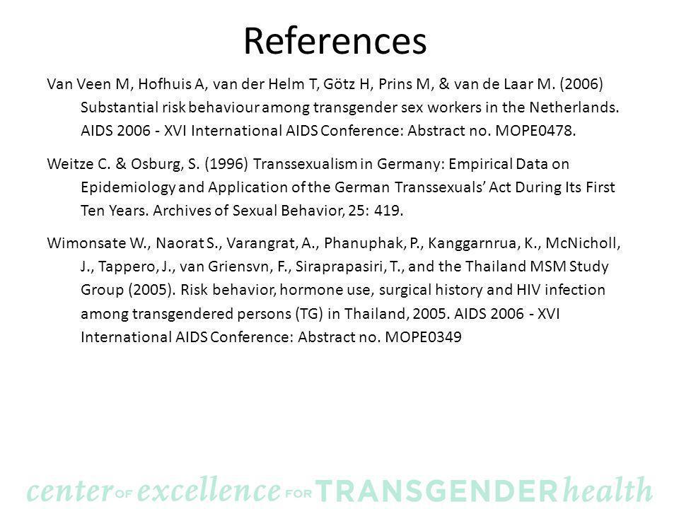 References Van Veen M, Hofhuis A, van der Helm T, Götz H, Prins M, & van de Laar M.