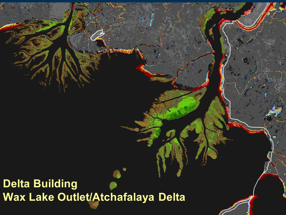 Delta Building Wax Lake Outlet/Atchafalaya Delta