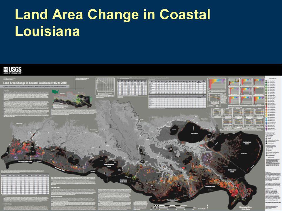 Land Area Change in Coastal Louisiana
