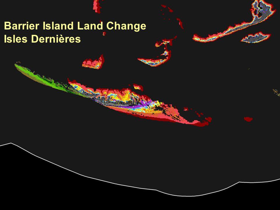 Barrier Island Land Change Isles Dernières