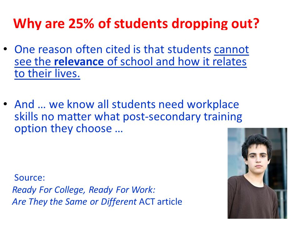 Why are 25% of students dropping out.