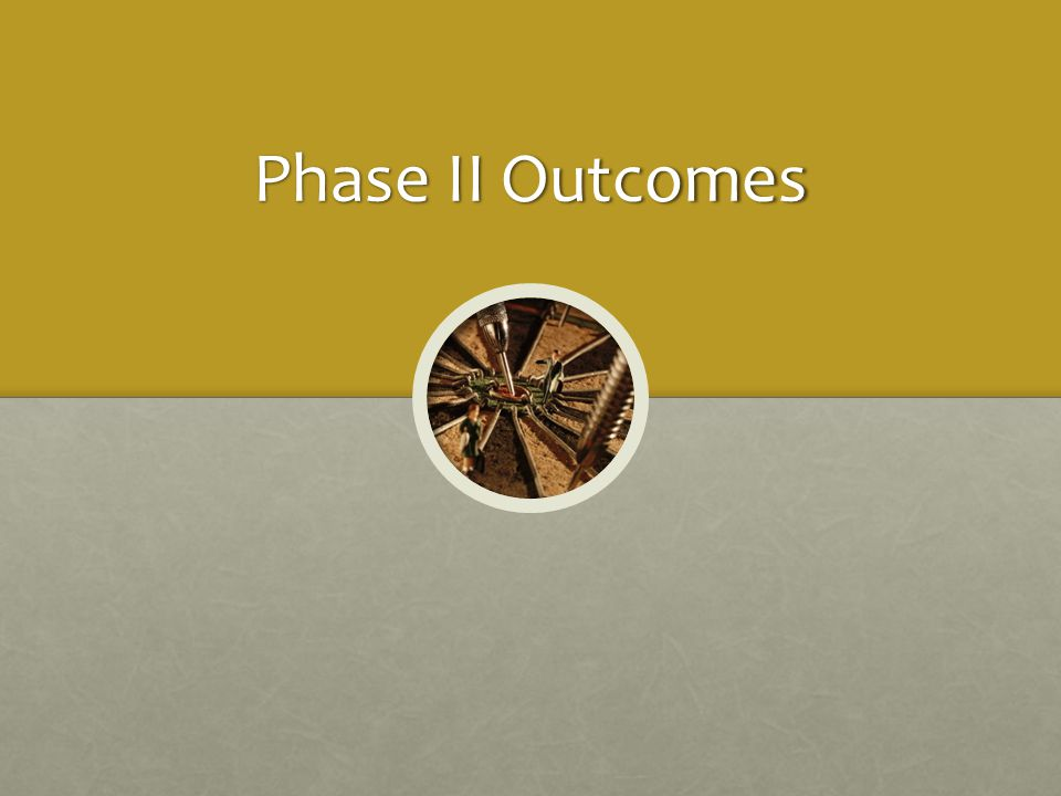 Phase II Outcomes