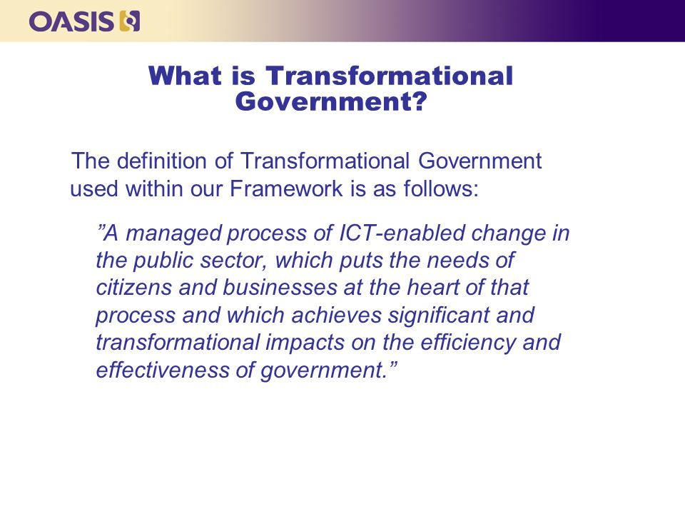 What is Transformational Government.