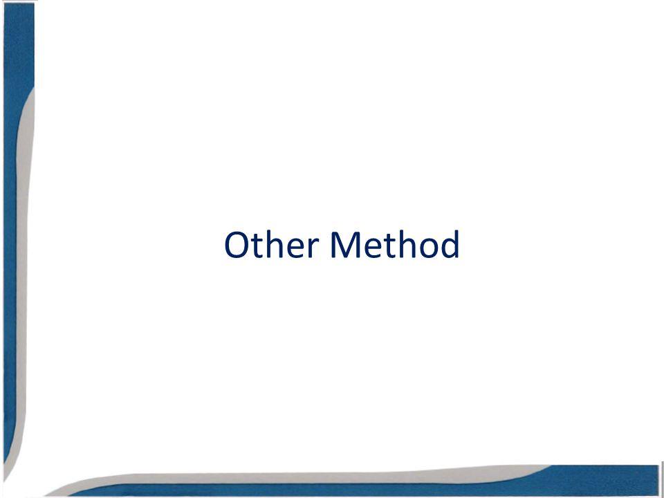 Other Method