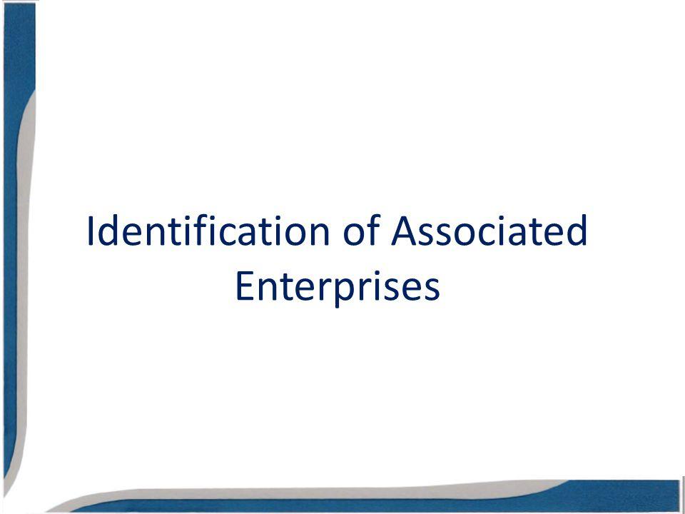 Identification of Associated Enterprises