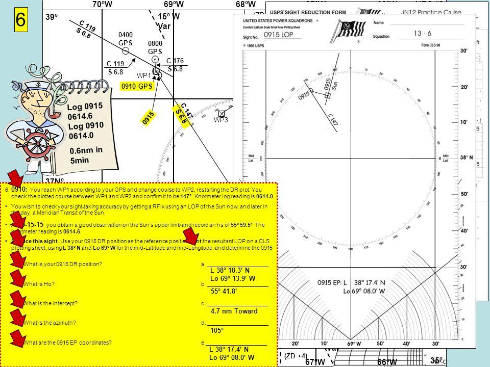 UPS #268ºW69ºW70ºW67ºW66ºW 37Nº 38º 39º 36º 35º 37Nº 38º 39º 36º 35º 68ºW69ºW70ºW67ºW66ºW 15º W Var (ZD +5)(ZD +4) (ZD +5)(ZD +4) S 6.8 WP1WP2 6 Cape Hatteras Virgin Rock 058-238º WP3 WP4 Cape Hatteras Gibraltar 071-251º 0400 GPS C 119 S 6.8 0800 GPS C 119 S 6.8 C 176 S 6.8 0910 GPS 0915 Log 0915 0614.6 Log 0910 0614.0 0.6nm in 5min 6.