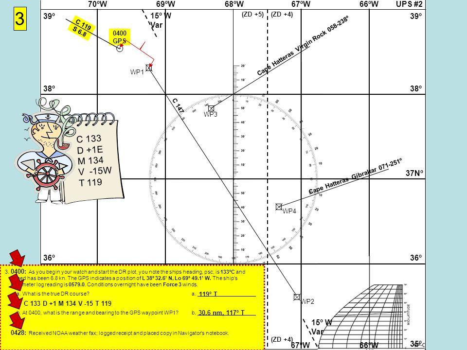 UPS #268ºW69ºW70ºW67ºW66ºW 37Nº 38º 39º 36º 35º 37Nº 38º 39º 36º 35º 68ºW69ºW70ºW67ºW66ºW 15º W Var (ZD +5)(ZD +4) (ZD +5)(ZD +4) WP1WP2 3 Cape Hatteras Virgin Rock 058-238º WP3 WP4 Cape Hatteras Gibraltar 071-251º 0400 GPS C 119 S 6.8 C 133 D +1E M 134 V -15W T 119 3.