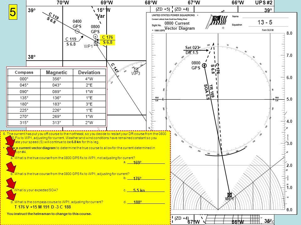 UPS #268ºW69ºW70ºW67ºW66ºW 37Nº 38º 39º 36º 35º 37Nº 38º 39º 36º 35º 68ºW69ºW70ºW67ºW66ºW 15º W Var (ZD +5)(ZD +4) (ZD +5)(ZD +4) WP1WP2 5 Cape Hatteras Virgin Rock 058-238º WP3 WP4 Cape Hatteras Gibraltar 071-251º 0400 GPS C 119 S 6.8 0800 GPS C 119 S 6.8 0800 Current Vector Diagram 13 - 5 8.0 7.0 6.0 5.0 4.0 3.0 2.0 1.0 0.0 0800 GPS C 176 S 6.8 TR 169 SOA 5.5 Set 023 Dft 1.5 WP1 C 176 S 6.8 5.