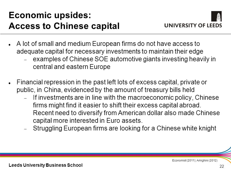 Leeds University Business School A lot of small and medium European firms do not have access to adequate capital for necessary investments to maintain