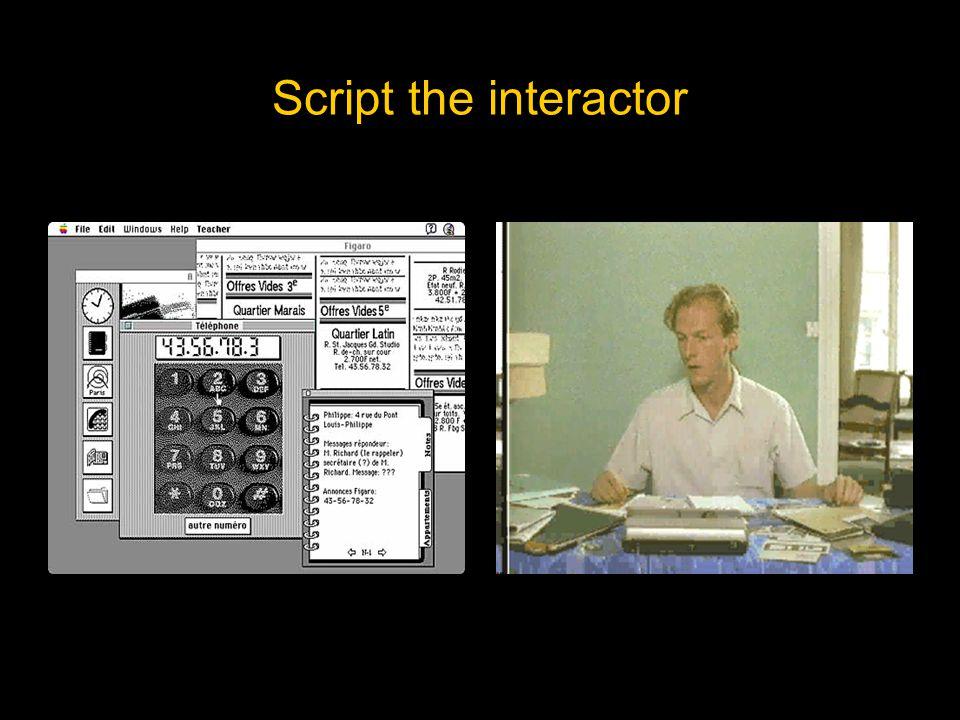 Script the interactor