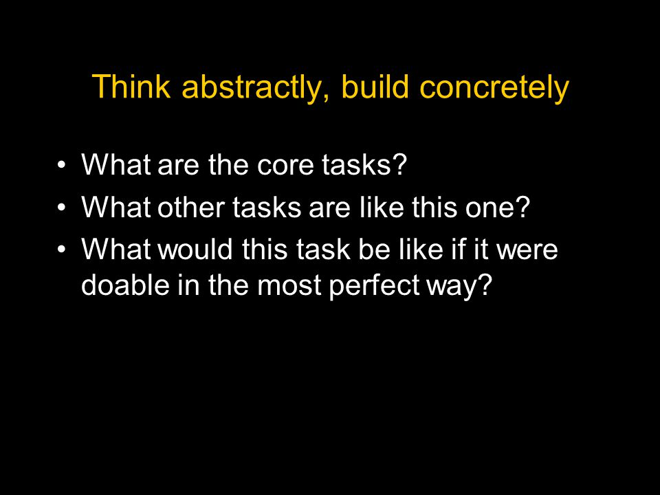 What are the core tasks.What other tasks are like this one.