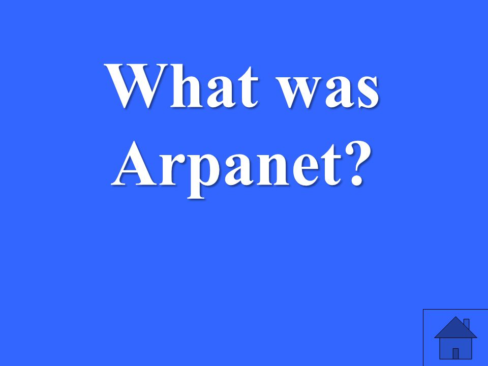What was Arpanet erfe