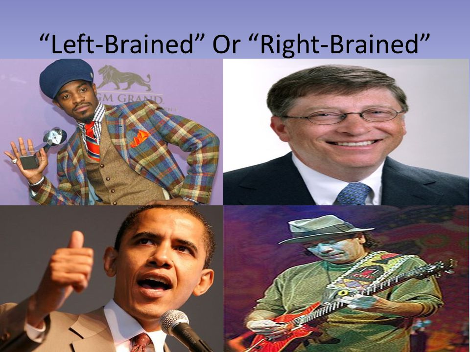 """""""Left-Brained"""" Or """"Right-Brained"""""""