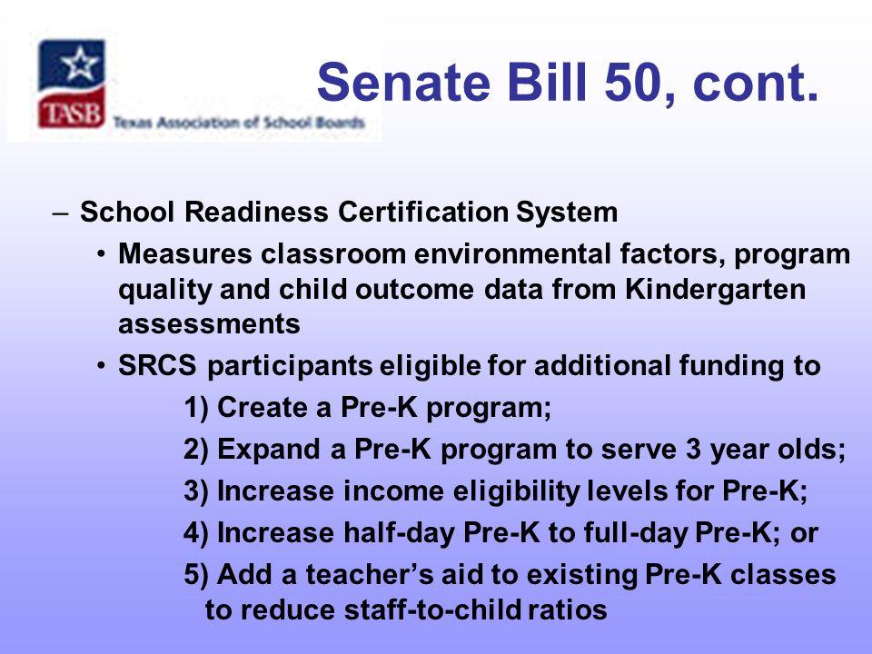 Senate Bill 50, cont.