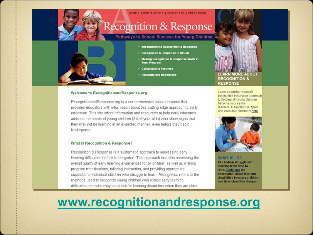 www.recognitionandresponse.org