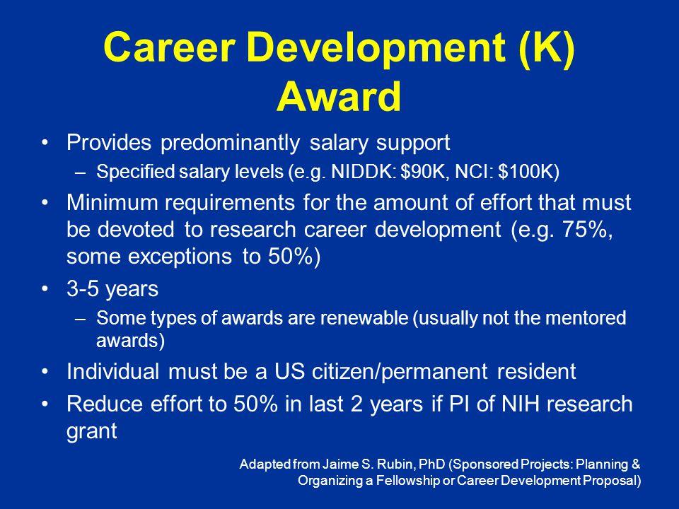 K Awardee 7 National Institute of Environmental Health Sciences Training Directors Meeting November 3, 2010