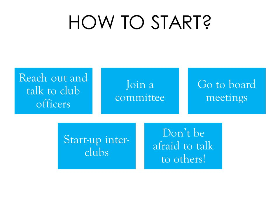 HOW TO START.