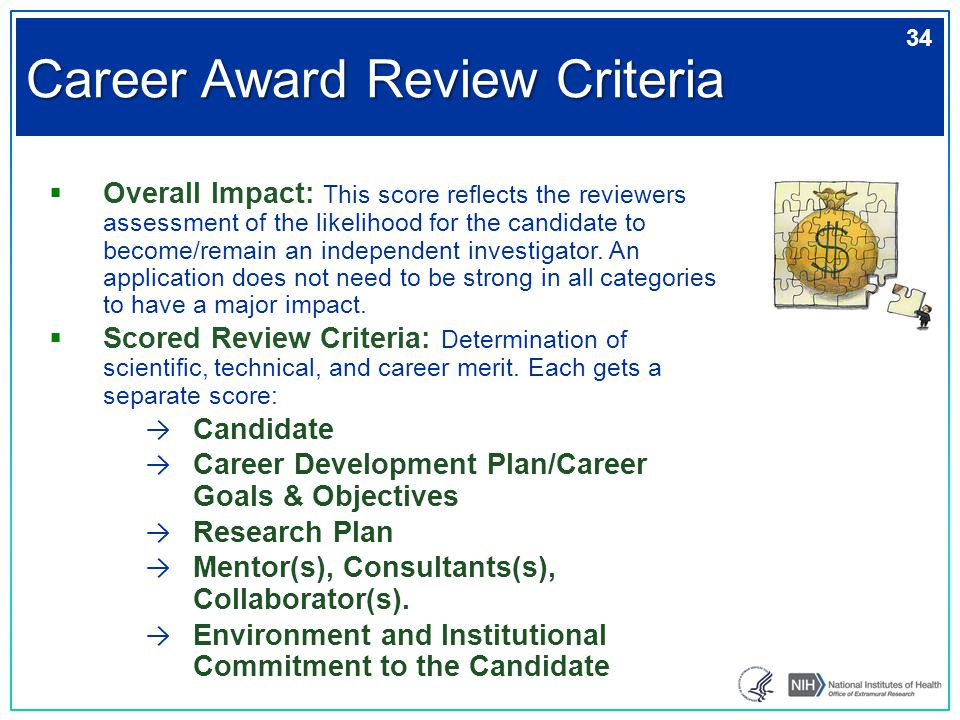  Overall Impact: This score reflects the reviewers assessment of the likelihood for the candidate to become/remain an independent investigator. An ap