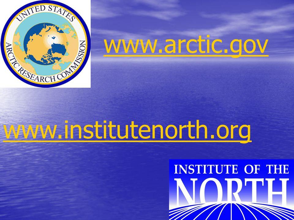 INSROP (1999) www.arctic.gov www.institutenorth.org