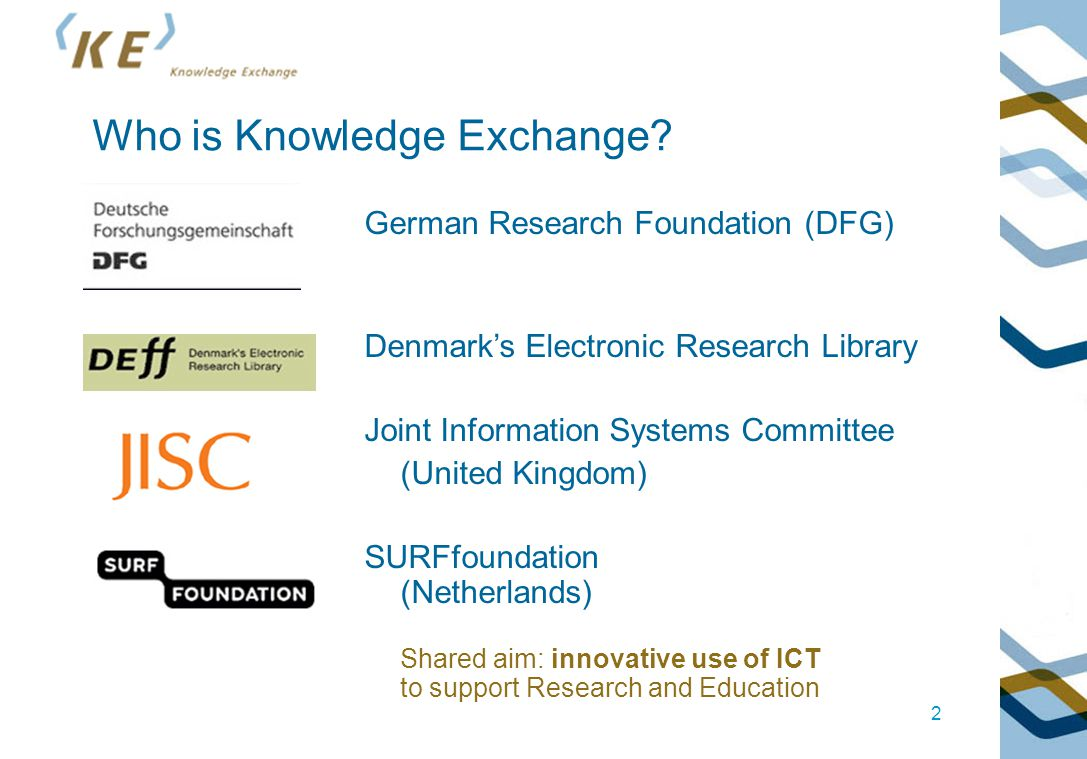 Questions? http://www.knowledge-exchange.info http://www.knowledge-exchange.info 13