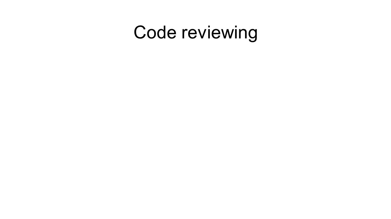 Code reviewing