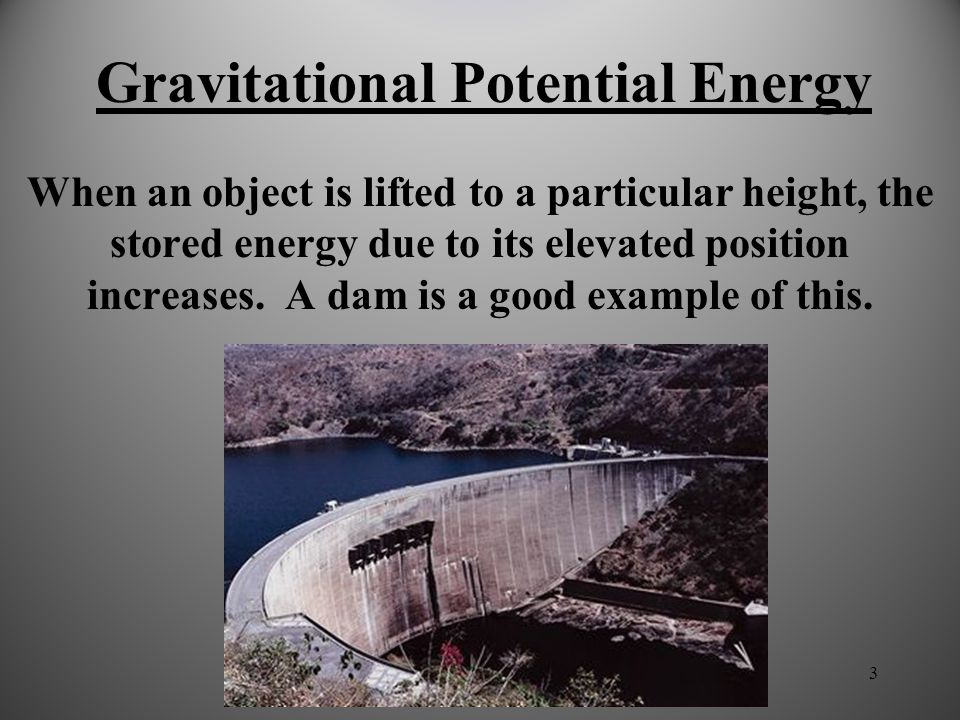 2 Potential Energy Potential Energy: stored energy. There are many ways that energy can be stored and then released. It's a lot like saving money in t
