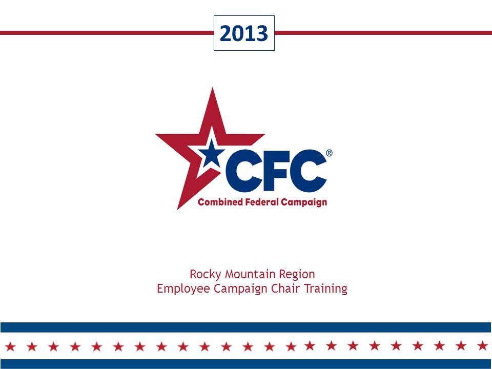 2013 Rocky Mountain Region Employee Campaign Chair Training