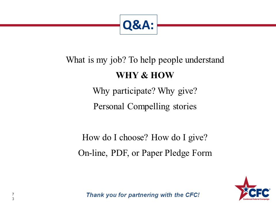 What is my job. To help people understand WHY & HOW Why participate.
