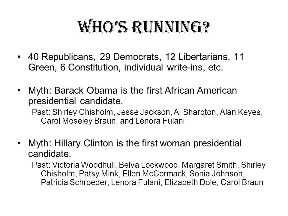 Who's Running.