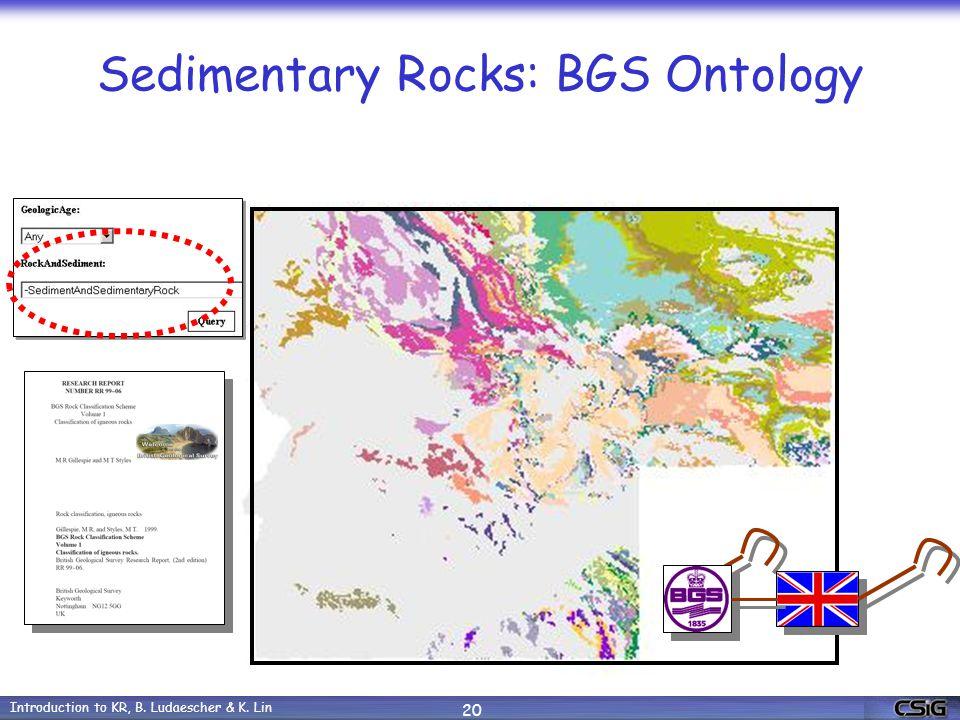 Introduction to KR, B. Ludaescher & K. Lin 20 Sedimentary Rocks: BGS Ontology