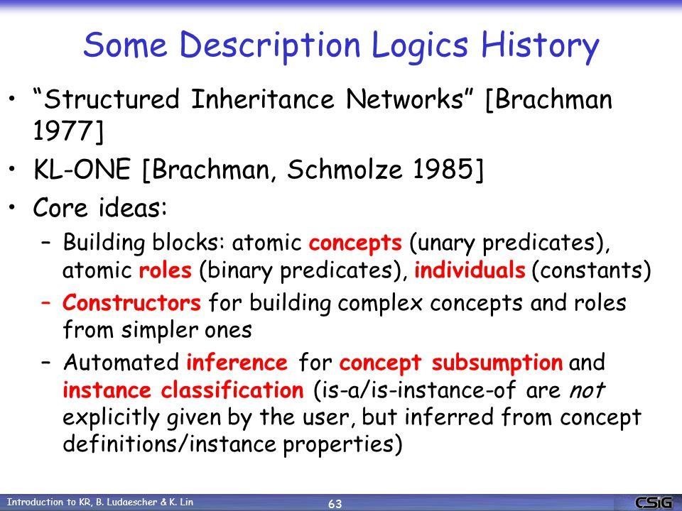 Introduction to KR, B. Ludaescher & K.