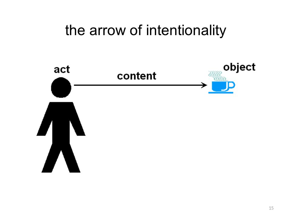 15 the arrow of intentionality