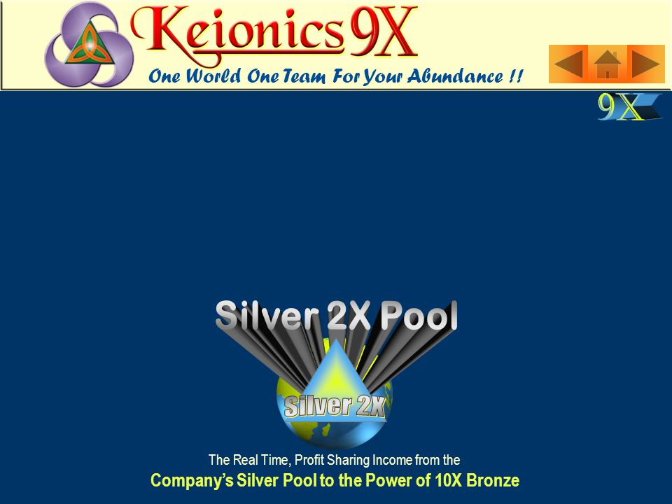 The Real Time, Profit Sharing Income from the Company's Silver Pool to the Power of 10X Bronze