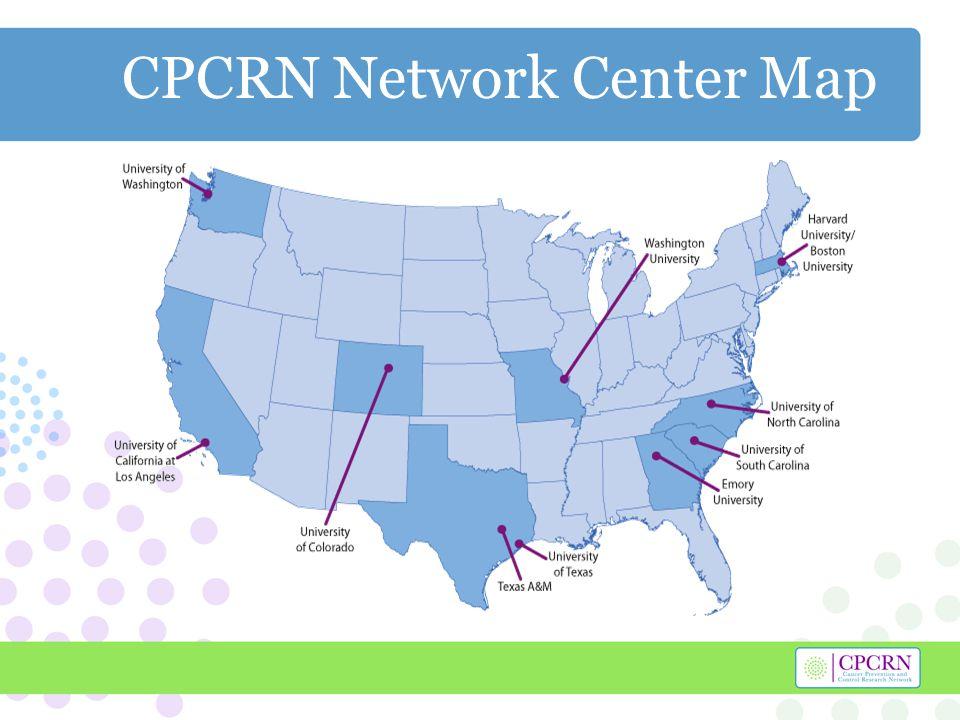 CPCRN Network Center Map