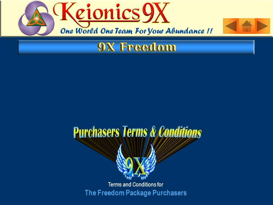 Terms and Conditions for The Freedom Package Purchasers