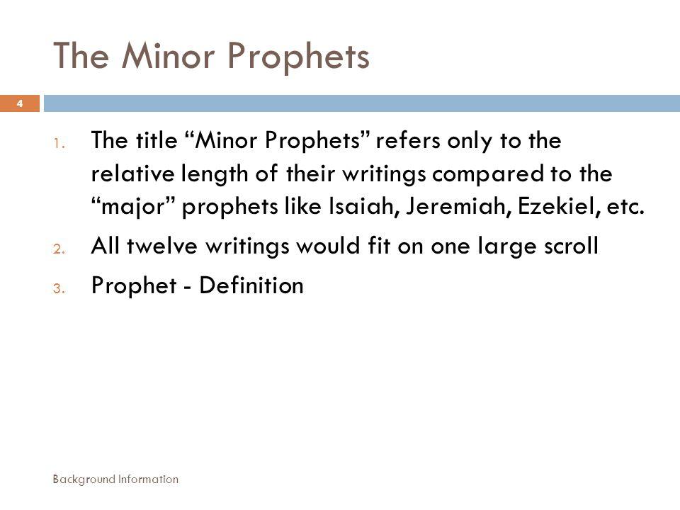 The Minor Prophets 1.