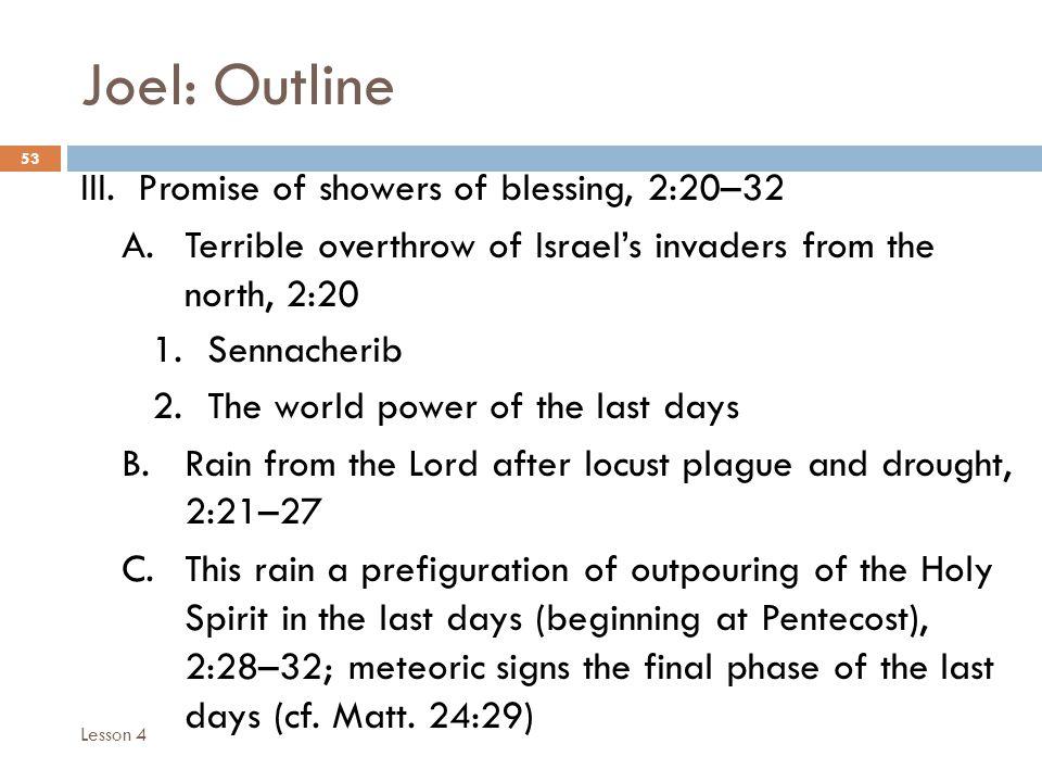 Joel: Outline 53 III.