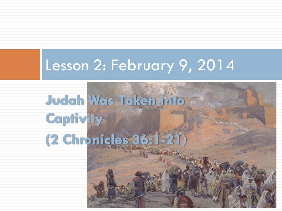 Lesson 2: February 9, 2014