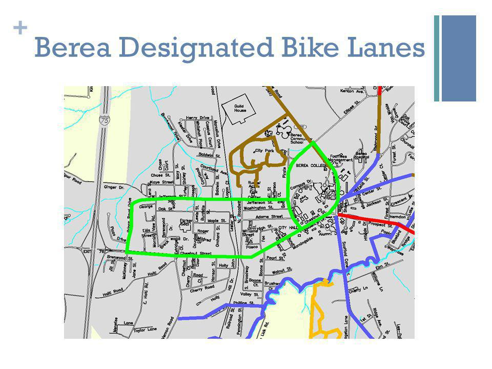 + Berea Designated Bike Lanes