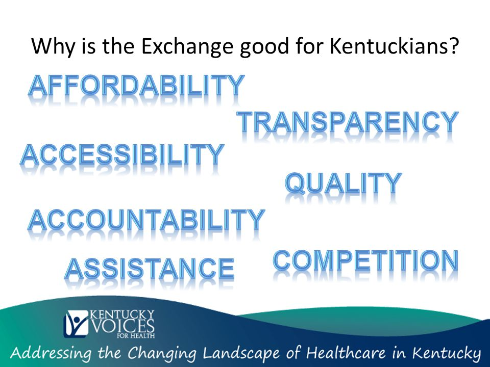 Why is the Exchange good for Kentuckians