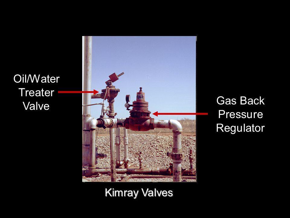 Gas Back Pressure Regulator Oil/Water Treater Valve Kimray Valves