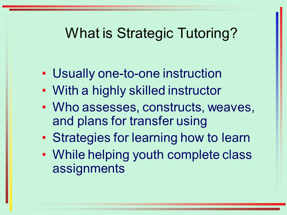 What is Strategic Tutoring.