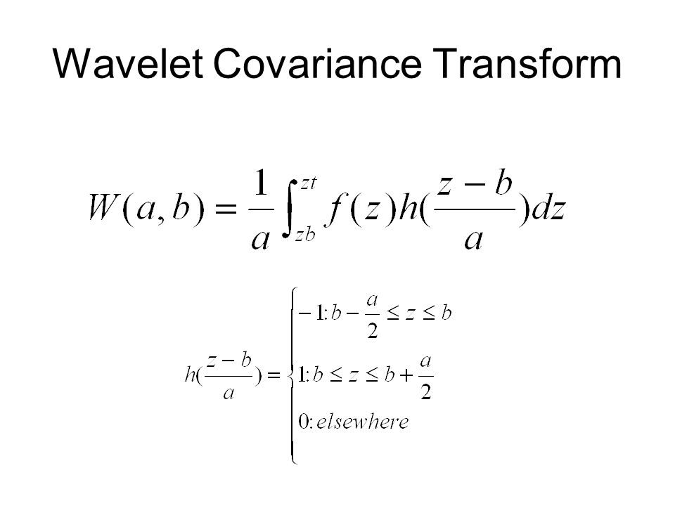 Wavelet Covariance Transform