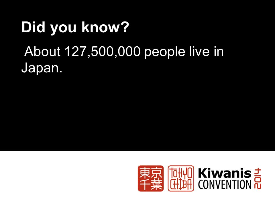 Did you know About 127,500,000 people live in Japan.