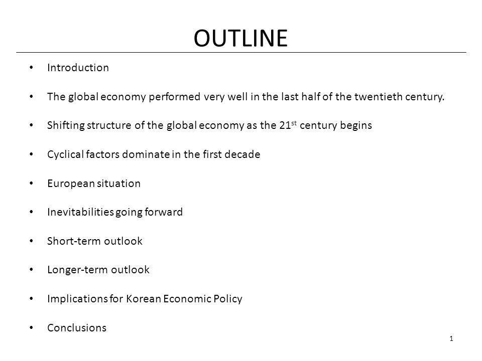 Conclusion (continued) Policies will necessarily be focused largely on aspects of the quality of the labor force.