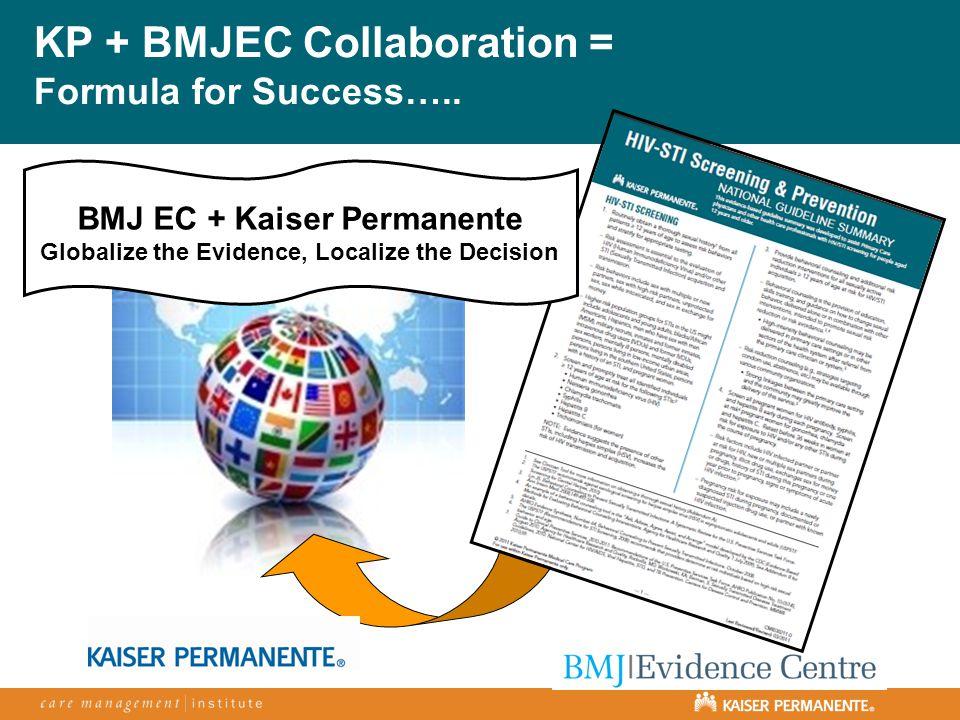 KP + BMJEC Collaboration = Formula for Success…..