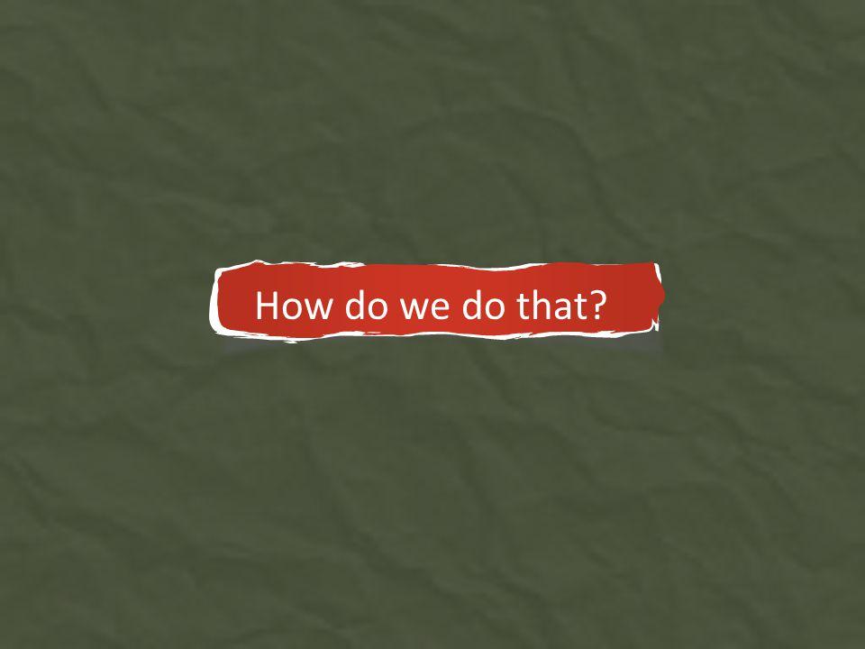 Autoformativos 2008 – 2011 How do we do that