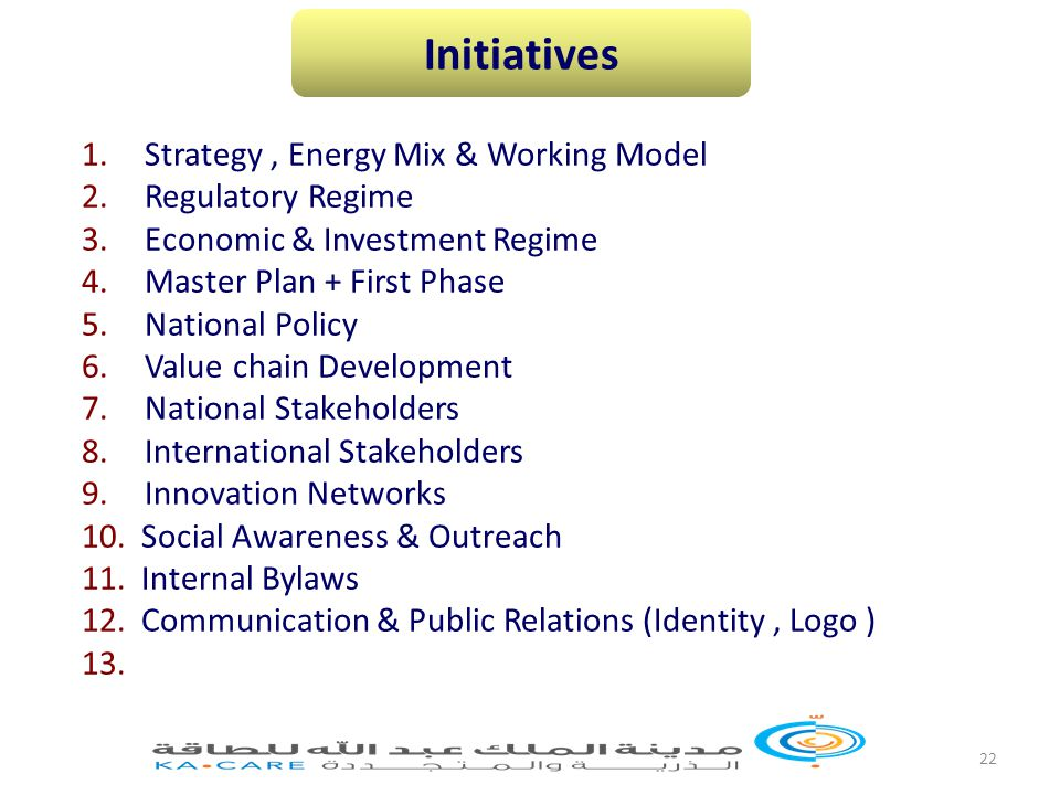 22 1. Strategy, Energy Mix & Working Model 2. Regulatory Regime 3.