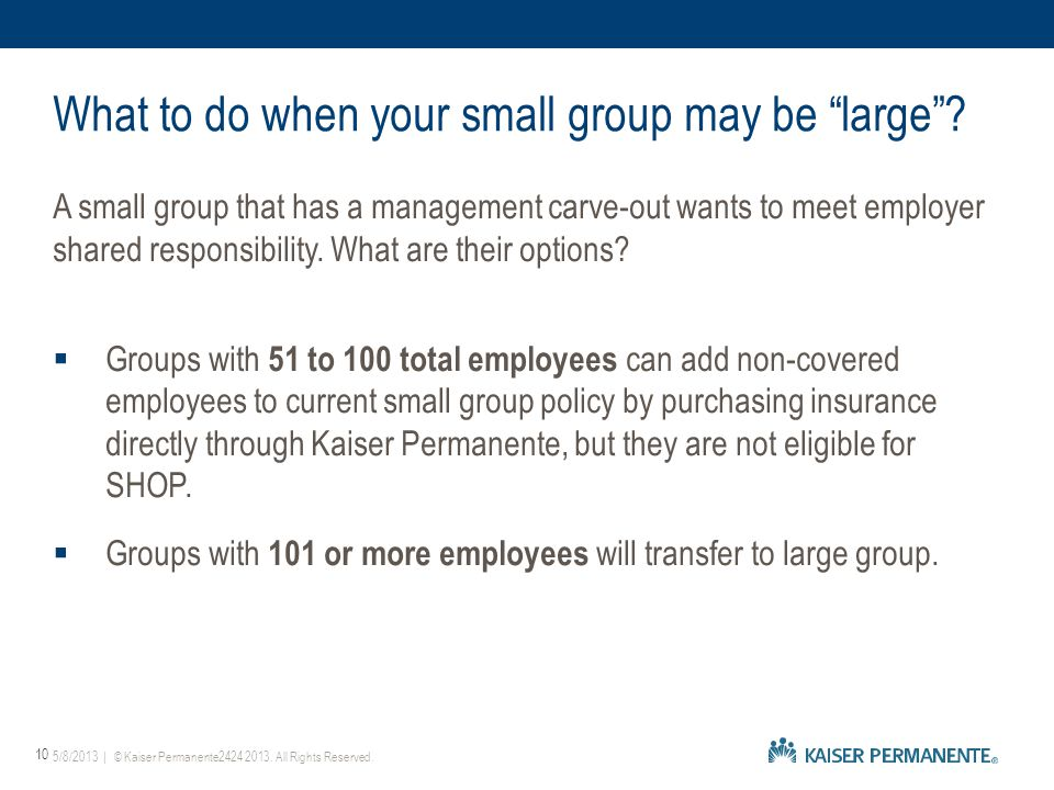 A small group that has a management carve-out wants to meet employer shared responsibility.