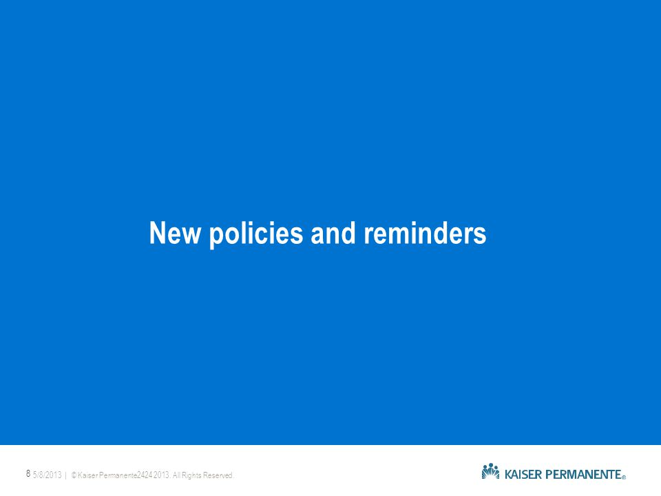  Kaiser Permanente will map individuals with nongrandfathered plans to new ACA-compliant plans as of January 2014.